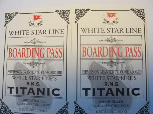 the copies of titanic's tickets
